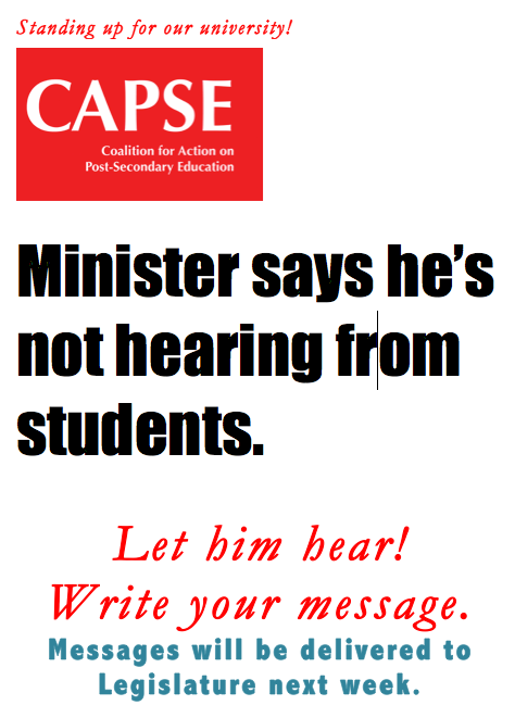 CAPSE Minister not hearing