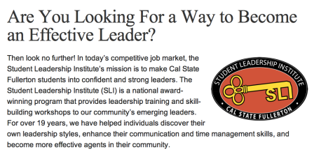 CalState Student Leadership Institute