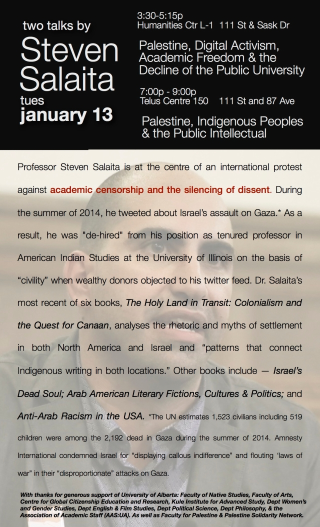 Salaita Talks University of Alberta jpg